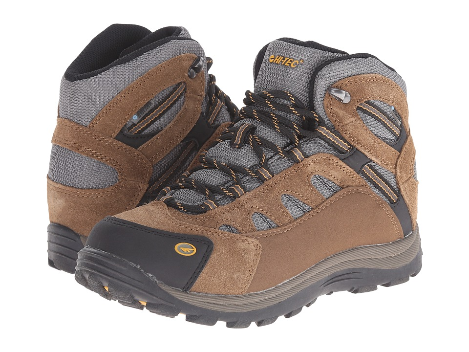 Hi-Tec Kids - Bandera Waterproof Jr (Toddler/Little Kid/Big Kid) (Bone/Brown/Mustard) Kids Shoes