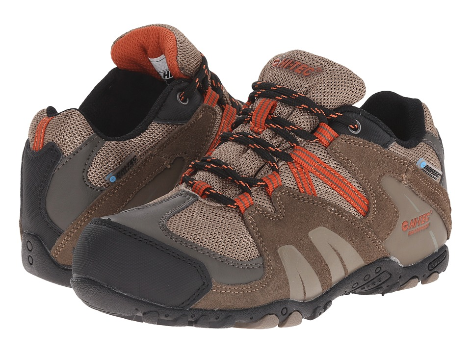 Hi-Tec Kids - Aitana Low Waterproof Jr (Toddler/Little Kid/Big Kid) (Smokey Brown/Taupe/Red Rock) Kids Shoes