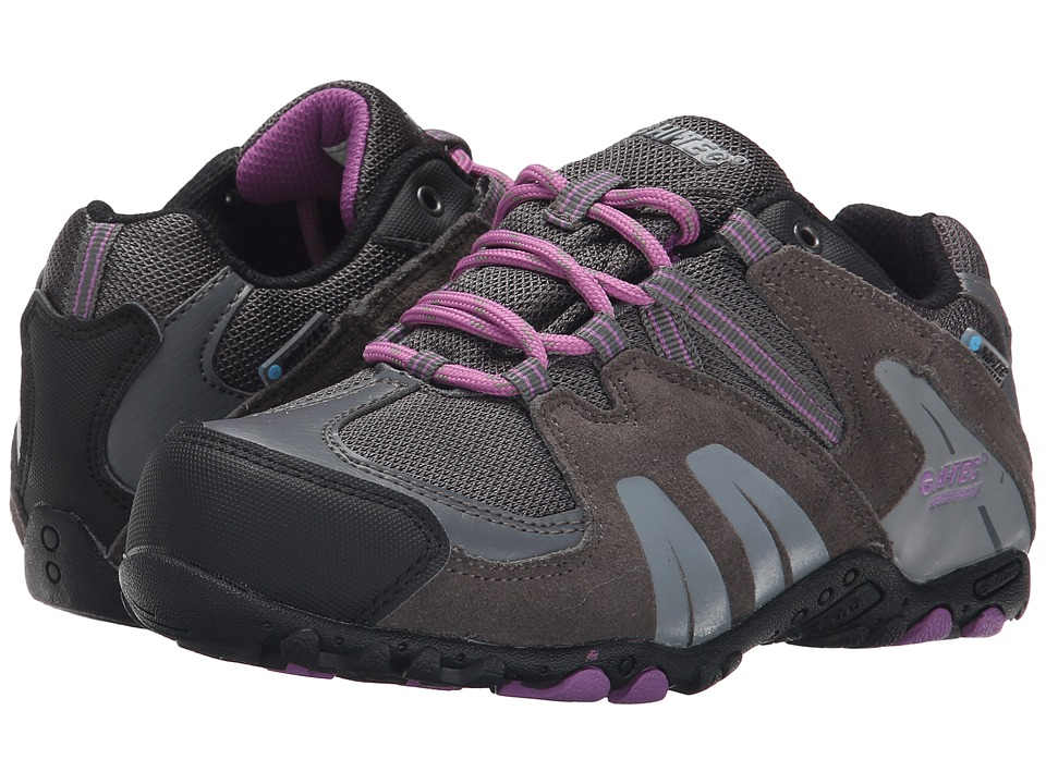 Hi-Tec Kids - Aitana Low Waterproof Jr (Toddler/Little Kid/Big Kid) (Charcoal/Grey/Orchid) Kids Shoes