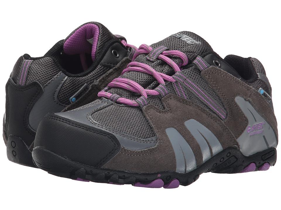 Hi-Tec Kids - Aitana Low Waterproof Jr (Toddler/Little Kid/Big Kid) (Charcoal/Grey/Orchid) Kids Shoes