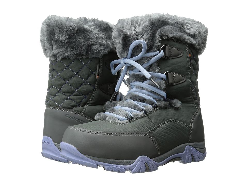 Hi-Tec Kids - St. Moritz Lite 20 Waterproof Jr (Toddler/Little Kid/Big Kid) (Charcoal/Steel Grey/Lustre) Girls Shoes