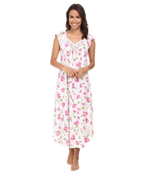 Carole Hochman - Floral Print Long Gown (Spring Awakening White) Women's Pajama