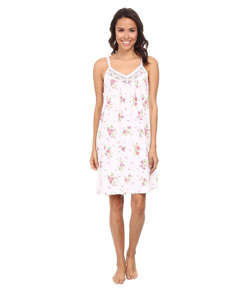 Carole Hochman - Floral Print Chemise (Flowering Bouquets White) Women's Pajama