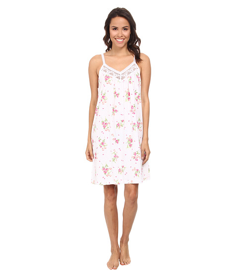 Carole Hochman - Floral Print Chemise (Flowering Bouquets White) Women's Pajama