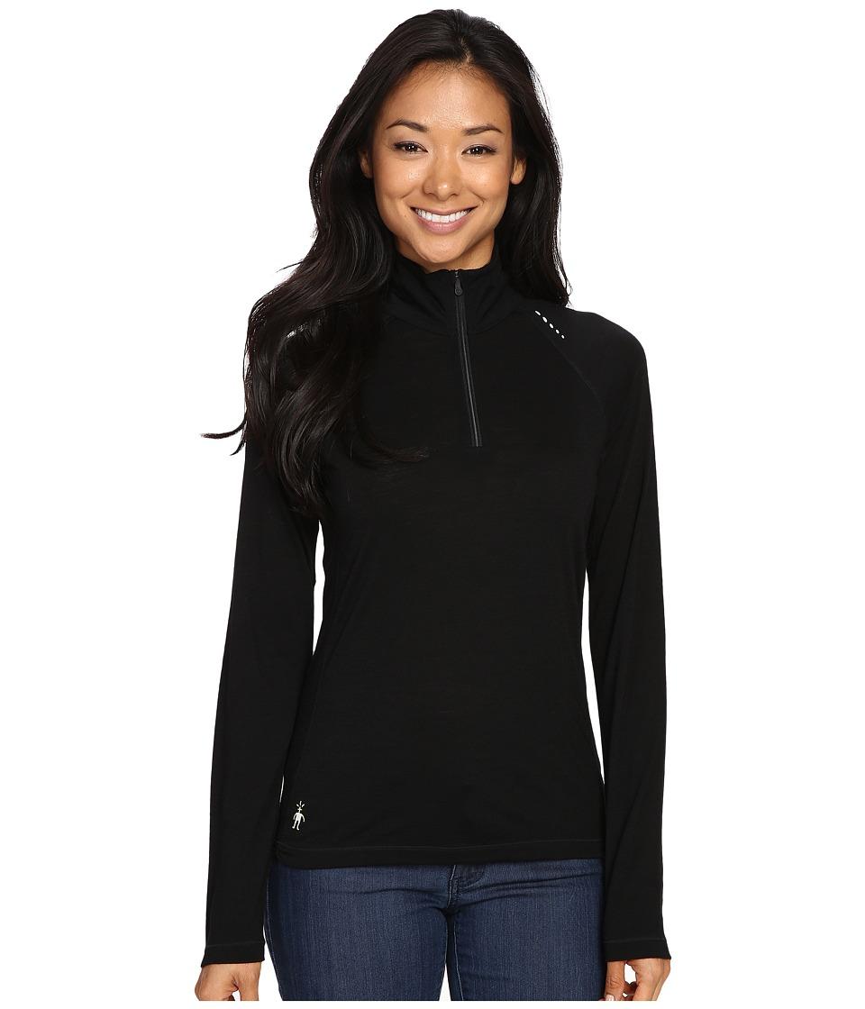 Smartwool - PhD Ultra Light Zip T (Black) Women's Long Sleeve Pullover