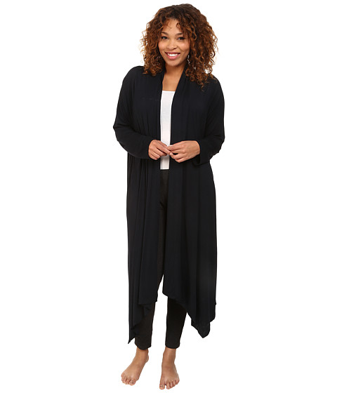 Midnight by Carole Hochman - Plus Size Better Together Core Wrap Robe (Midnight) Women