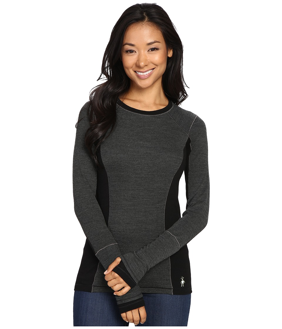 Smartwool - PhD(r) Light Long Sleeve Shirt (Charcoal Heather) Women's Long Sleeve Pullover