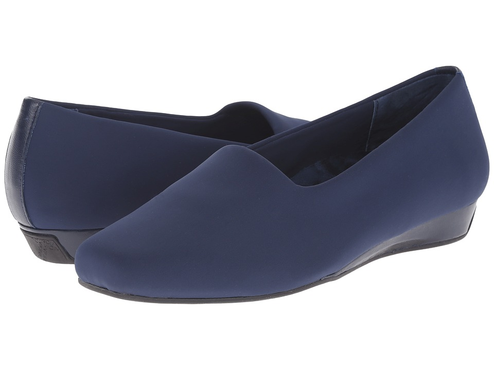 VIONIC - Treat Powell Low Wedge (Navy Stretch) Women's Wedge Shoes