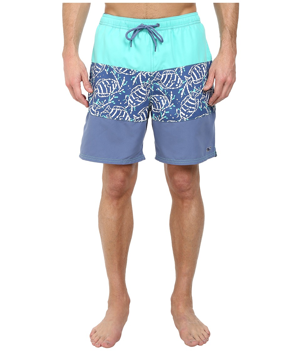 Vineyard Vines - Pieced Sea Life Batik Bungalow (Antigua Green) Men's Swimwear