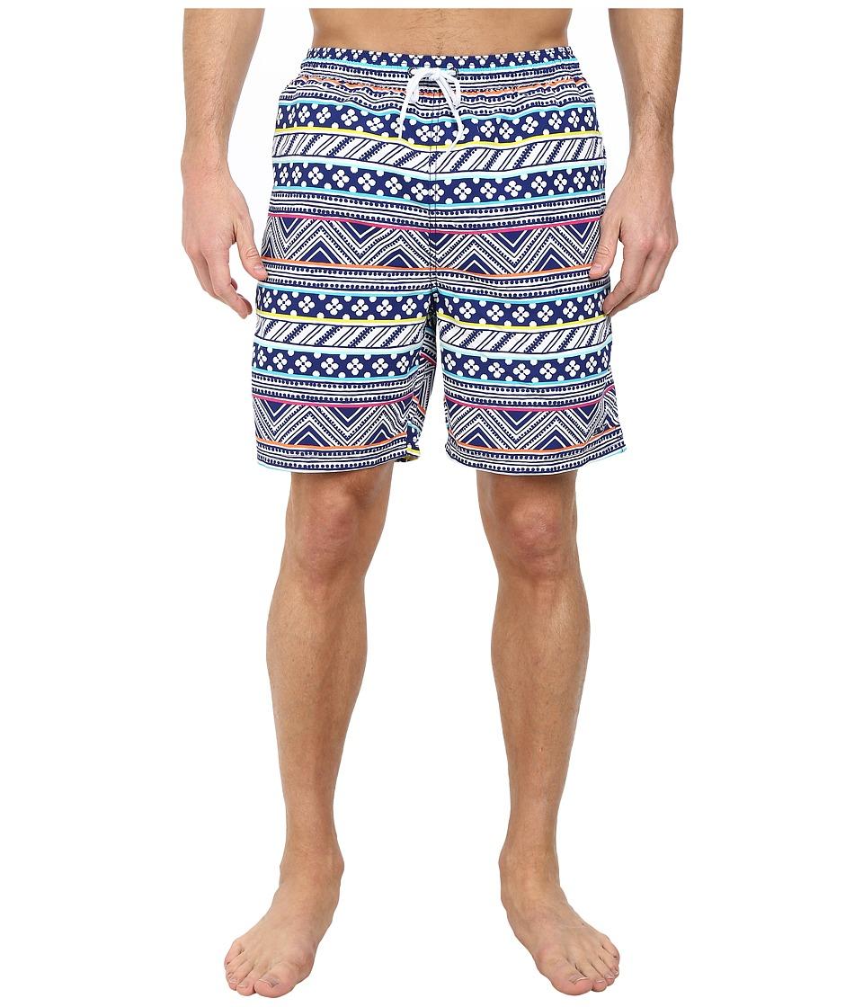 Vineyard Vines - St. Barth's Striped Bungalow Shorts (Commodore) Men's Swimwear