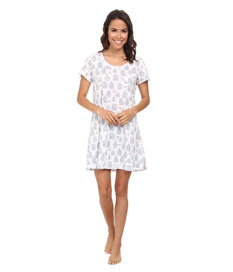Carole Hochman - Novelty Print Sleepshirt (Antique Birdcages White) Women's Pajama