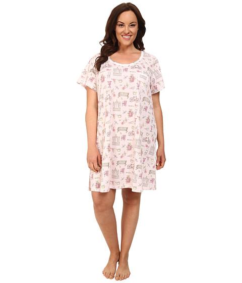 Carole Hochman - Plus Size Novelty Print Sleepshirt (Garden Medley) Women's Pajama