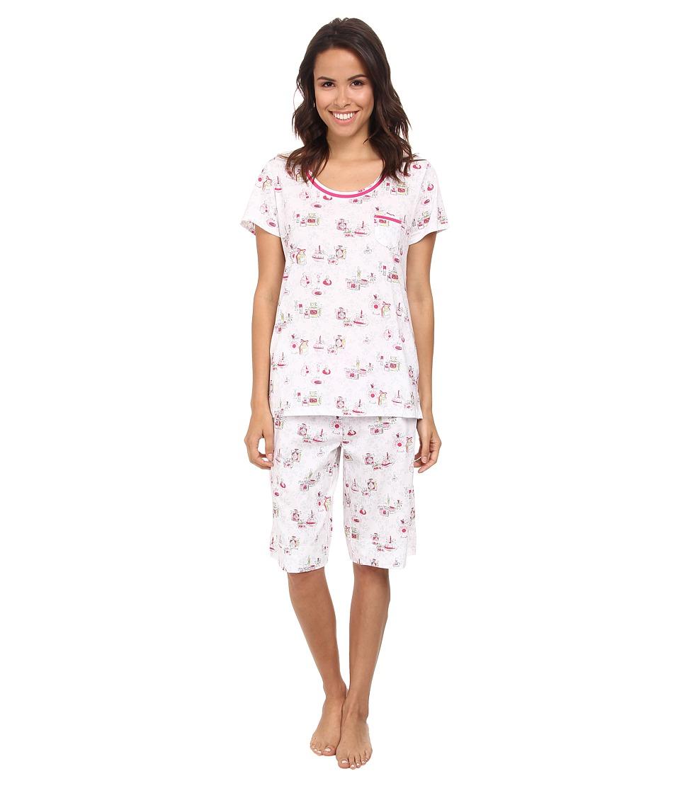 Carole Hochman - Novelty Print Bermuda Pajama Set (Spring Scents) Women's Pajama Sets