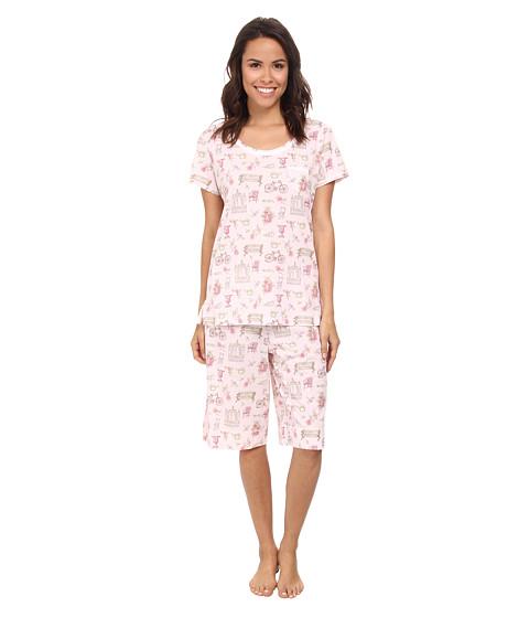 Carole Hochman - Novelty Print Bermuda Pajama Set (Garden Medley) Women's Pajama Sets