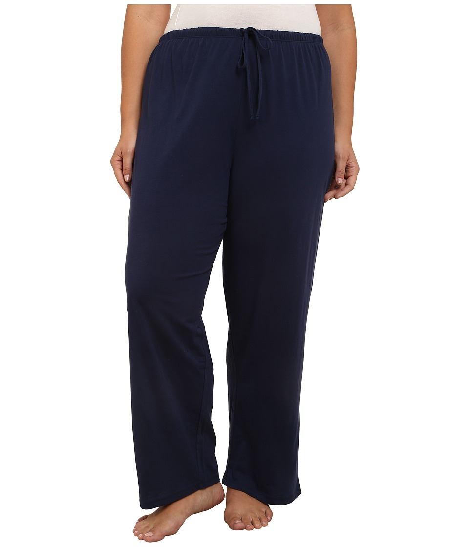 Jockey - Jockey Cotton Essentials Plus Size Long Pajama Pant (Midnight Navy) Women's Pajama