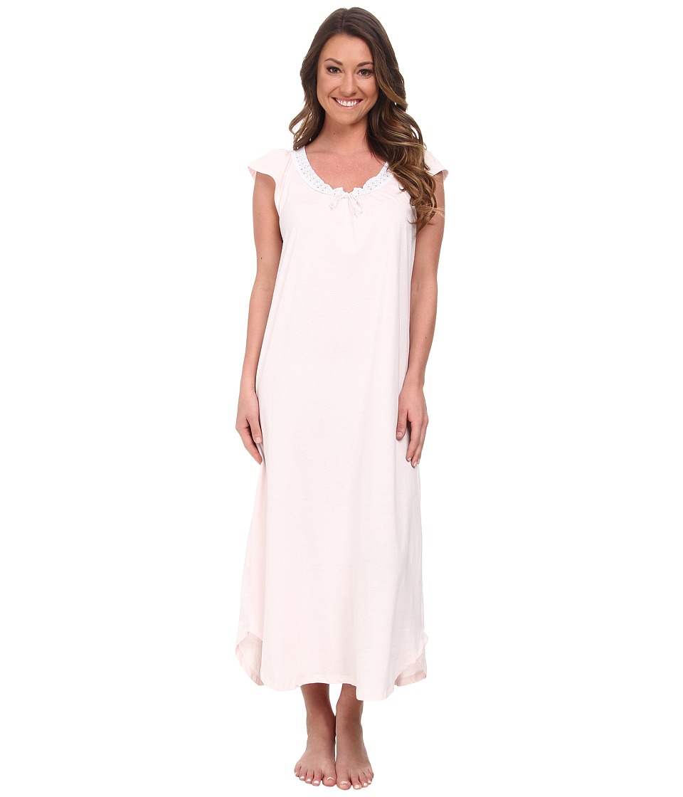 Carole Hochman - Soft Jersey Long Gown (Pink Ice) Women