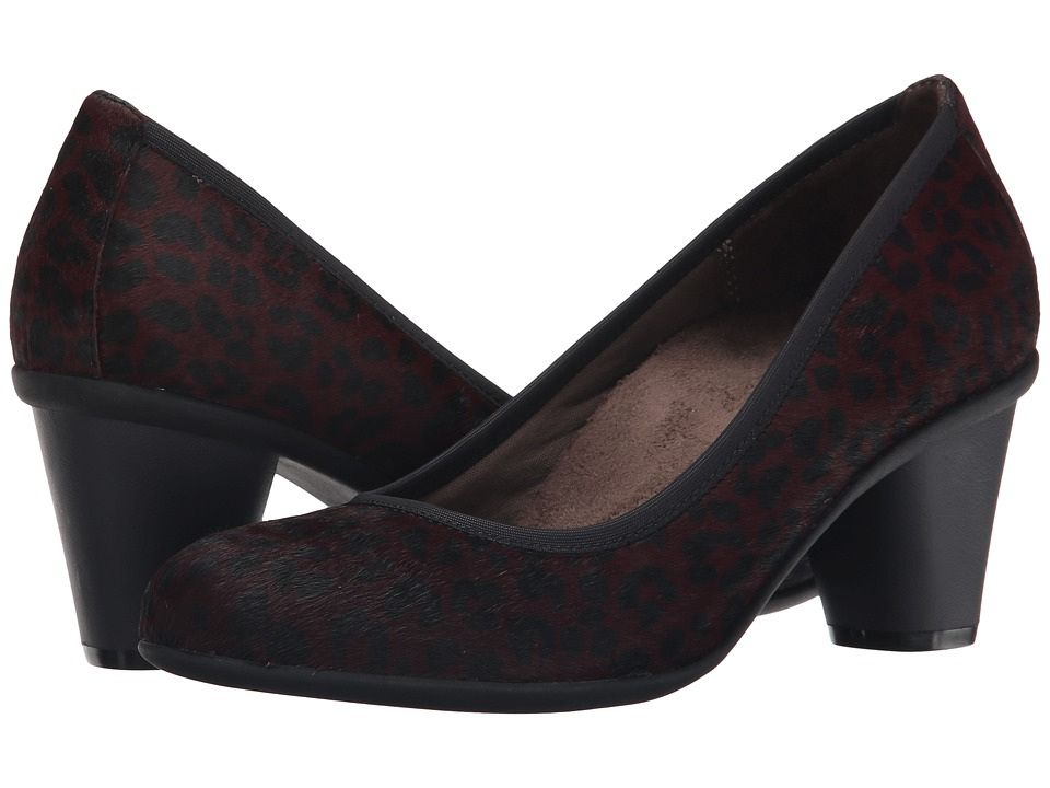 VIONIC - Career Mabrey Pump (Wine Leopard) High Heels