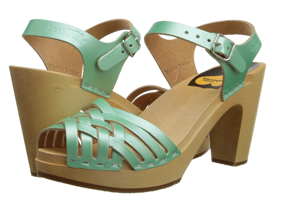 Swedish Hasbeens - Braided Sky High (Mint Pearl) High Heels
