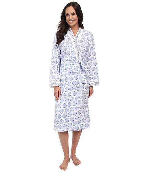 Carole Hochman - Short Robe with Embroidery (Embellished Foulard Cornflower) Women