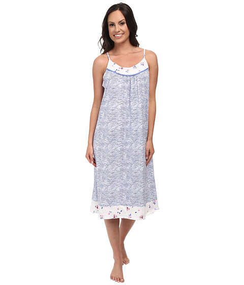 Carole Hochman - Ballet Length Printed Chemise (Watercolor Stripe) Women's Pajama