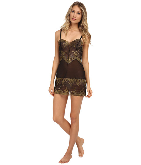 Wacoal - Embrace Lace Chemise (Black/Gold Lurex) Women's Lingerie