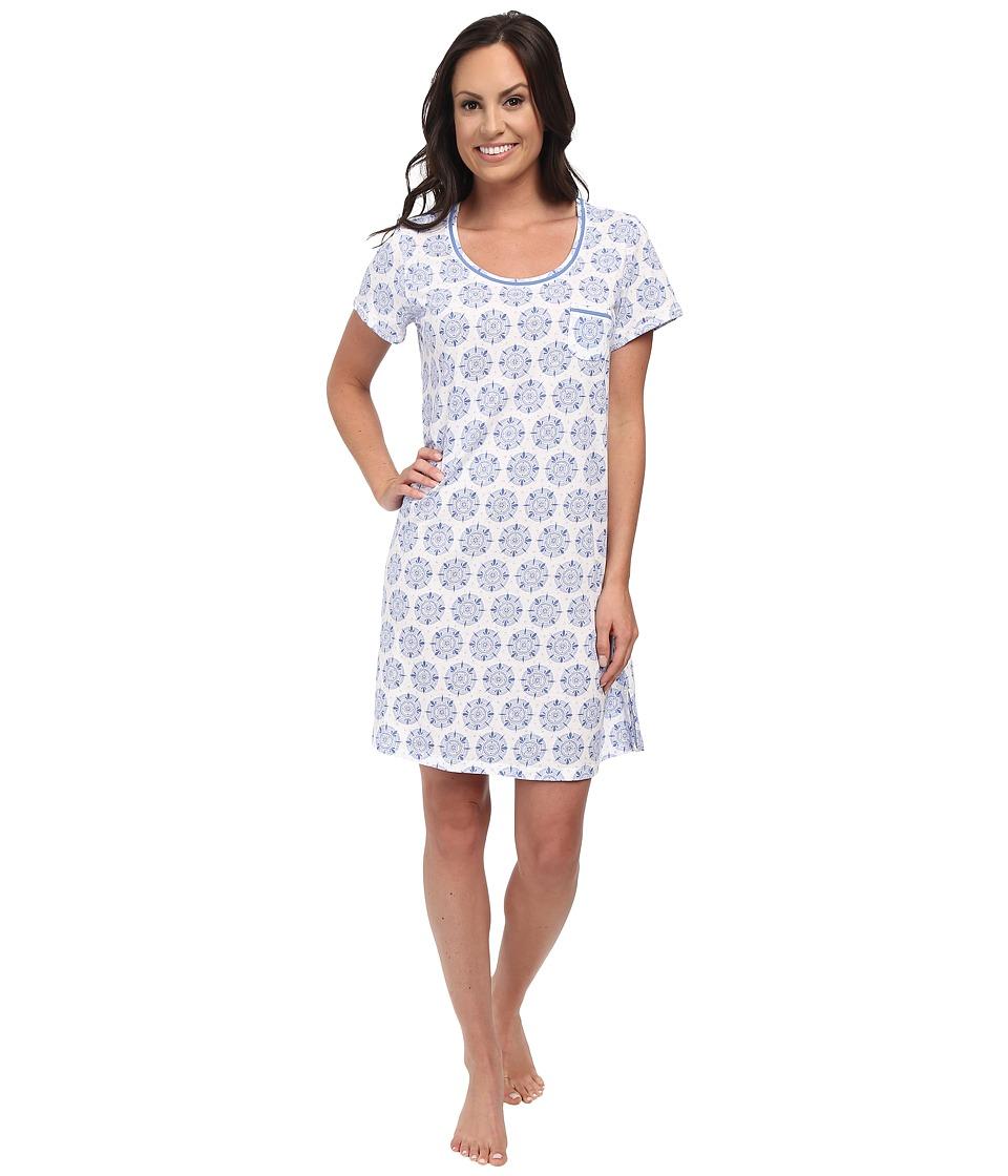 Carole Hochman - Novelty Print Sleepshirt (Embellished Foulard Cornflower) Women's Pajama
