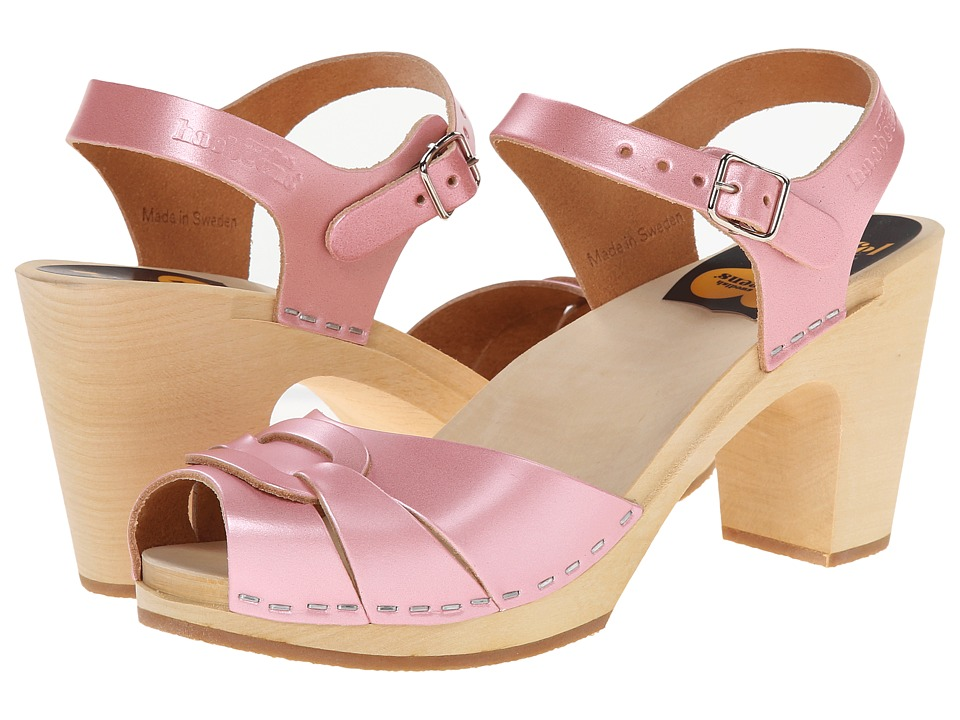 Swedish Hasbeens - Peep Toe Super High (Pearl Pink) Women's Sandals
