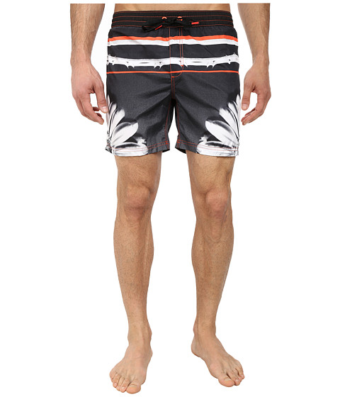 Diesel - Mark-E Shorts KAID (Black/Orange Flower) Men's Swimwear