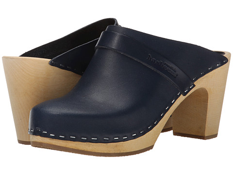Swedish Hasbeens - Slip In (Dark Blue) Women's Clog Shoes