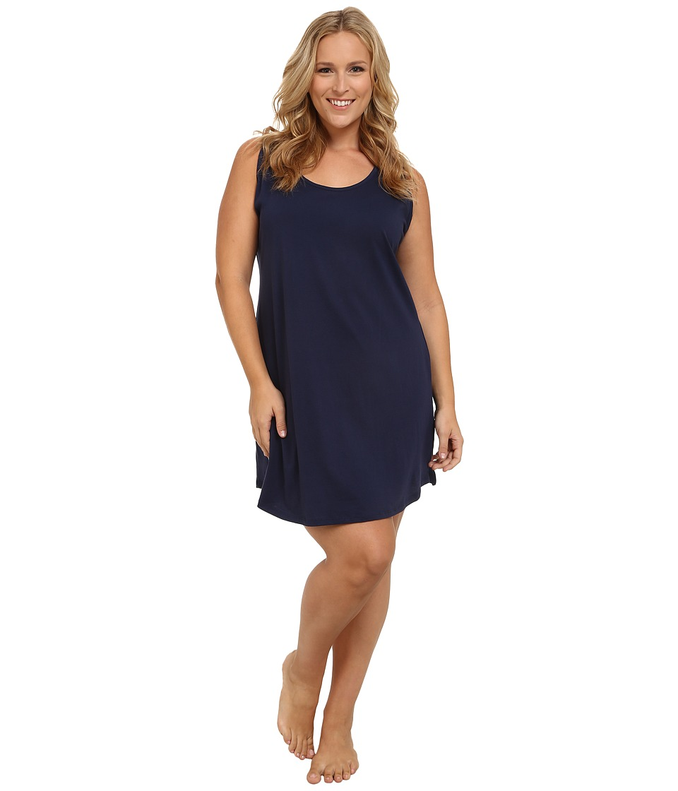 Jockey - Plus Size Cotton Chemise (Midnight Navy) Women's Pajama