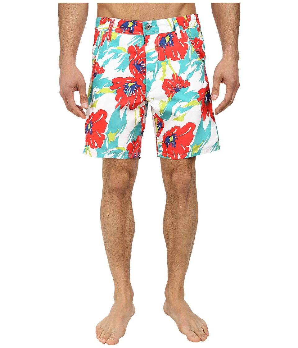 Diesel - Kroobeach Shorts AAHK (Pink/White Floral) Men's Swimwear