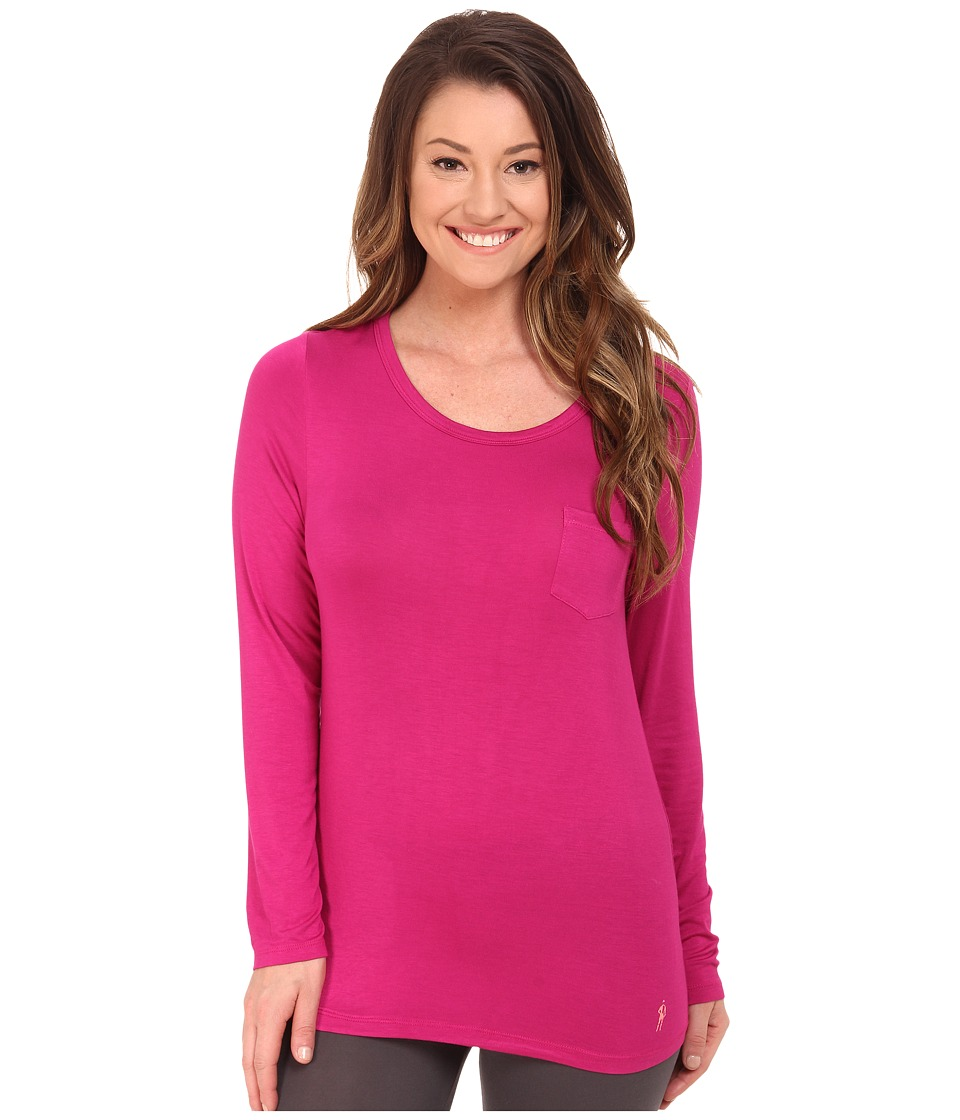 Jockey - Long Sleeve Top (Fab Fuchsia) Women's Pajama