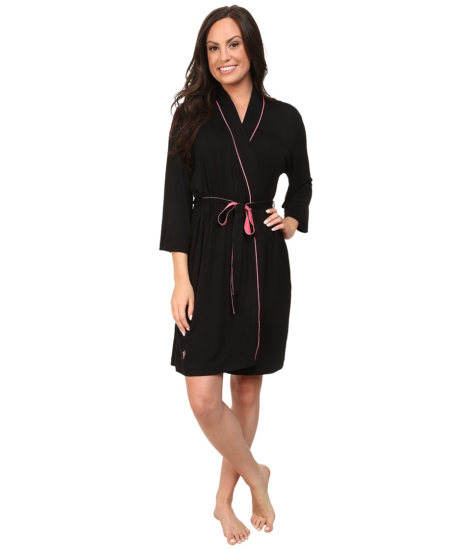 Jockey - Rayon Spandex Robe (Black) Women's Robe