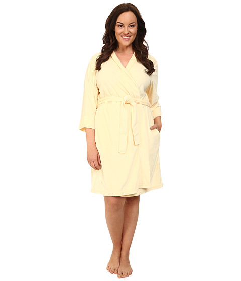 Jockey - Plus Size Vintage Terry Robe (French Yellow) Women's Robe