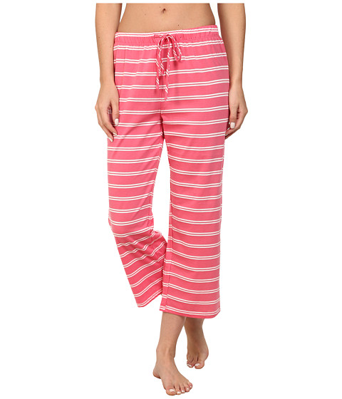 Jockey - Striped Capris Pants (Sammy Stripe Pink) Women