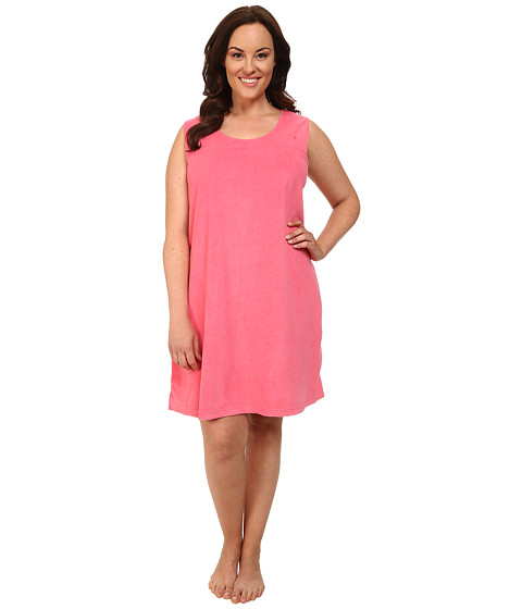 Jockey - Plus Size Vintage Terry Chemise (Pink Burst) Women