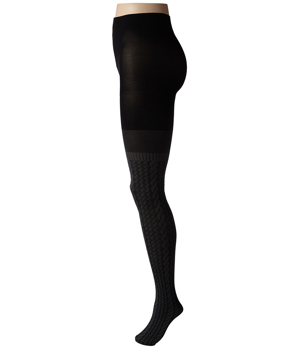 Spanx - Cable Knit Over The Knee Tights (Sweater Grey) Hose