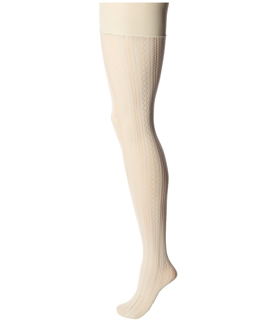Spanx - Case In Pointelle Shaping Tights (White Sandstone) Hose