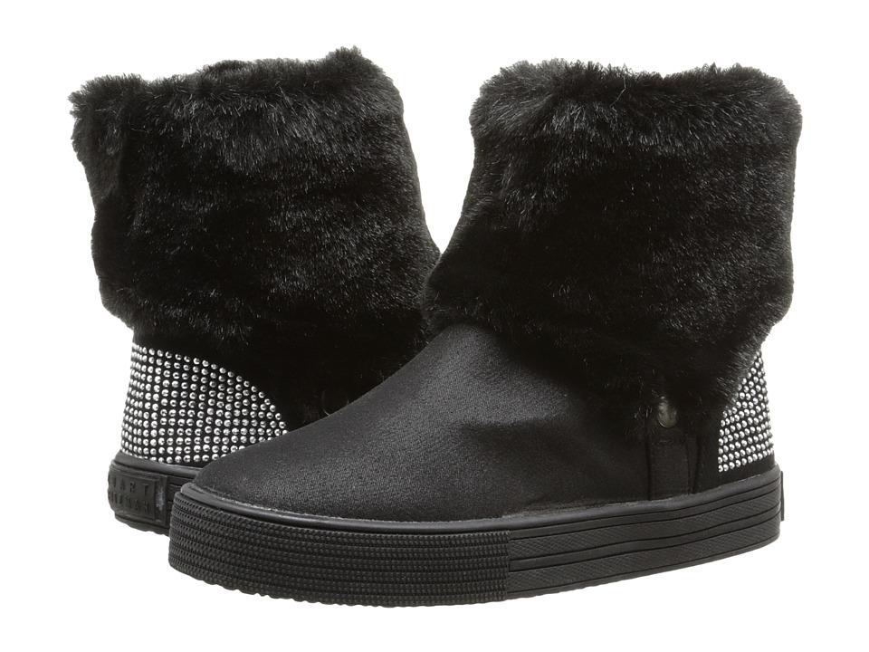 Stuart Weitzman Kids - Vance Fur Chelsea (Toddler/Little Kid) (Black) Girls Shoes