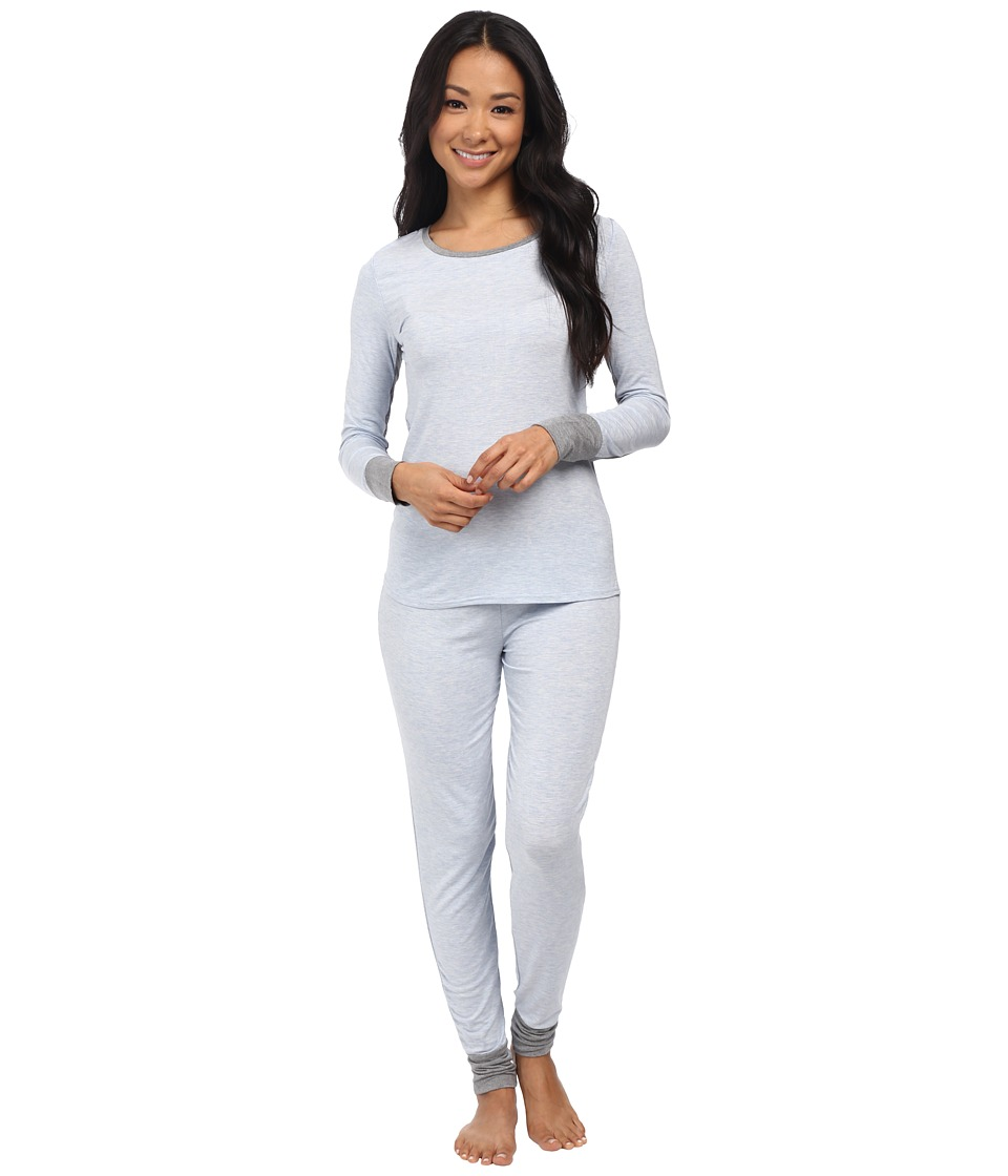 Splendid - PJ Set (Light Blue Heather) Women's Pajama Sets