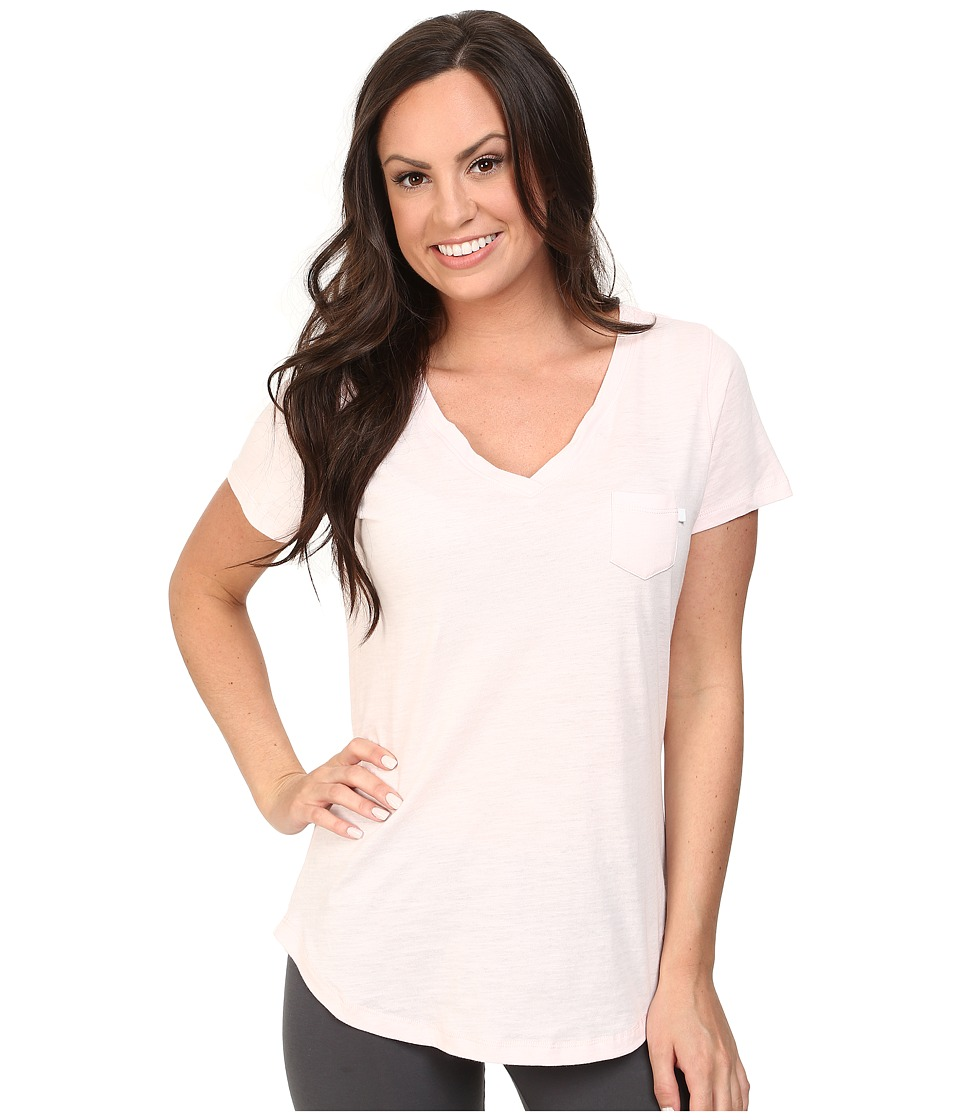 Jockey - Short Sleeve Slub Jersey Tee (Peach Ice) Women