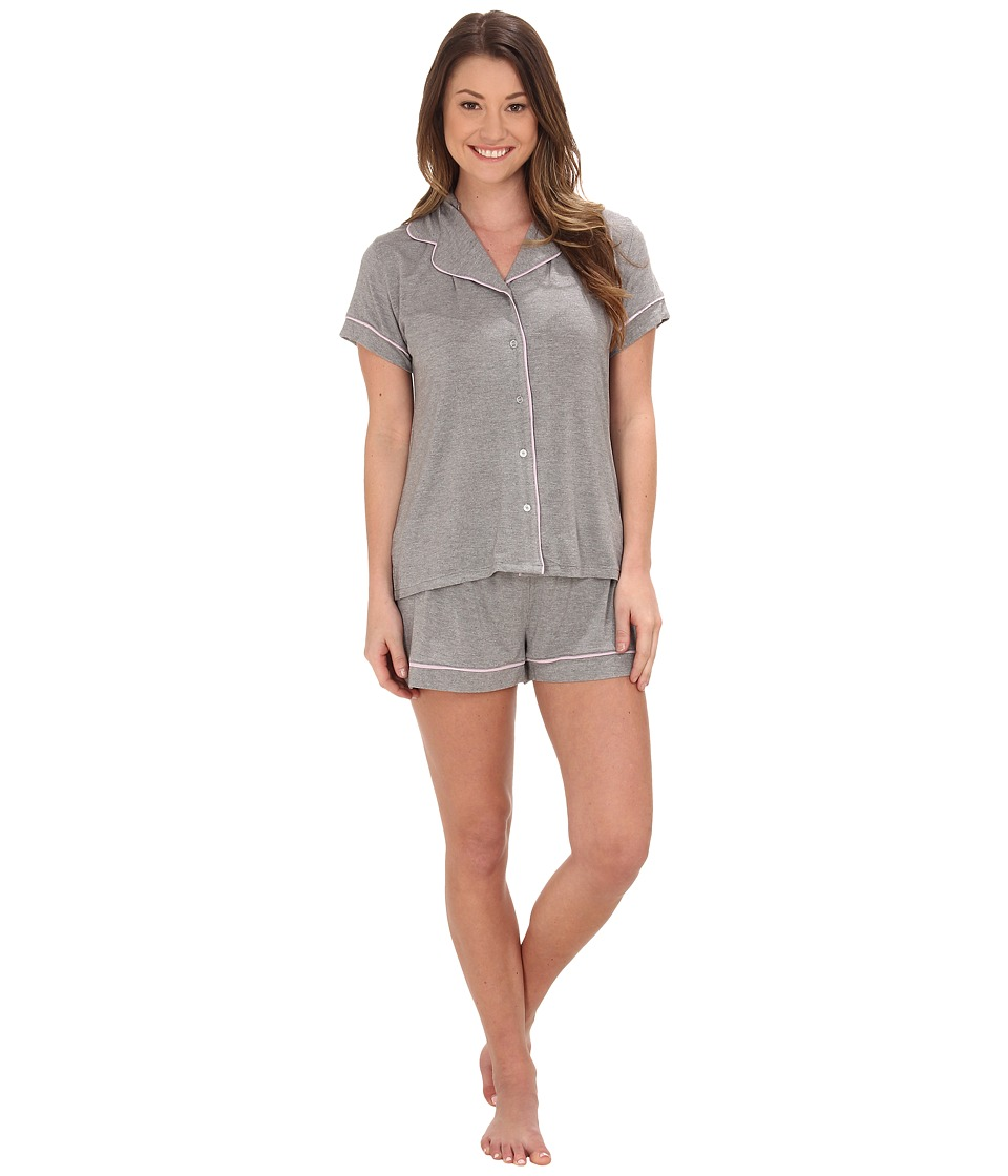 Splendid - Short PJ Set (Medium Marled Gray Heather) Women's Pajama Sets