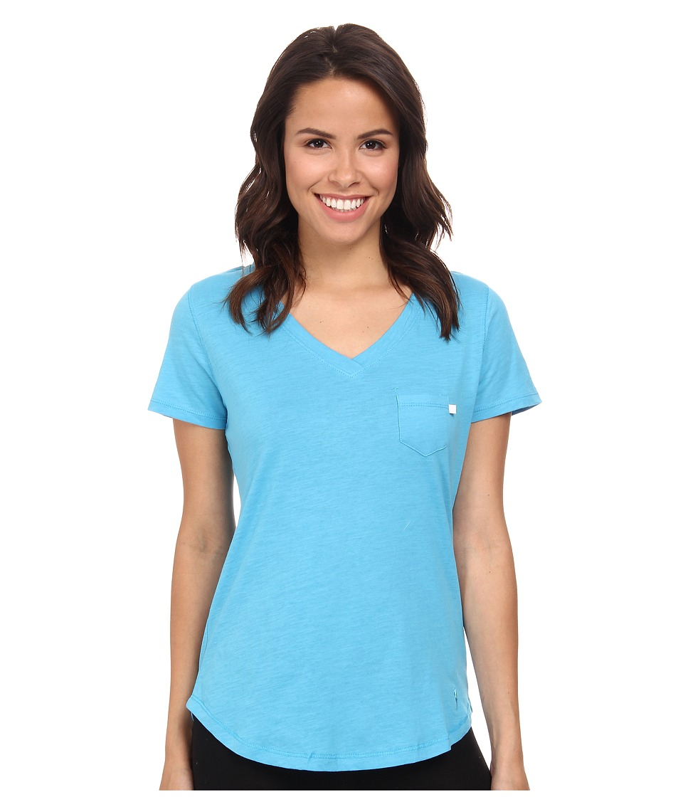 Jockey - Short Sleeve Slub Jersey Tee (Bermuda Blue) Women