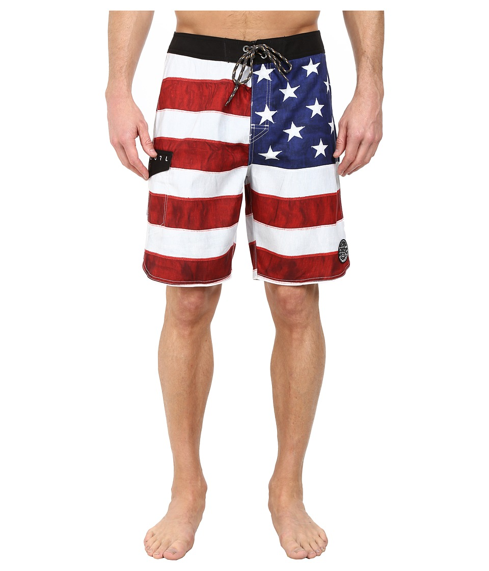 Rip Curl - Old Glory Boardshorts (Bright Red) Men's Swimwear