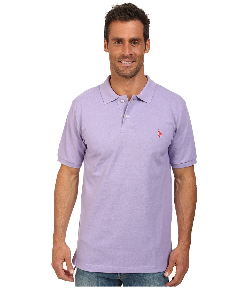 U.S. POLO ASSN. - Solid Cotton Pique Polo with Small Pony (Purple Sky) Men
