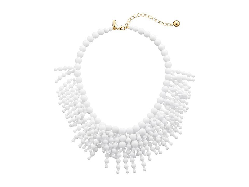 Kate Spade New York - Fringe Appeal Necklace (White) Necklace