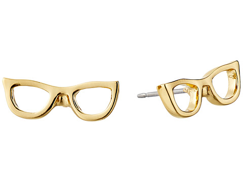 Kate Spade New York - Goreski Glasses Studs Earrings (Gold) Earring