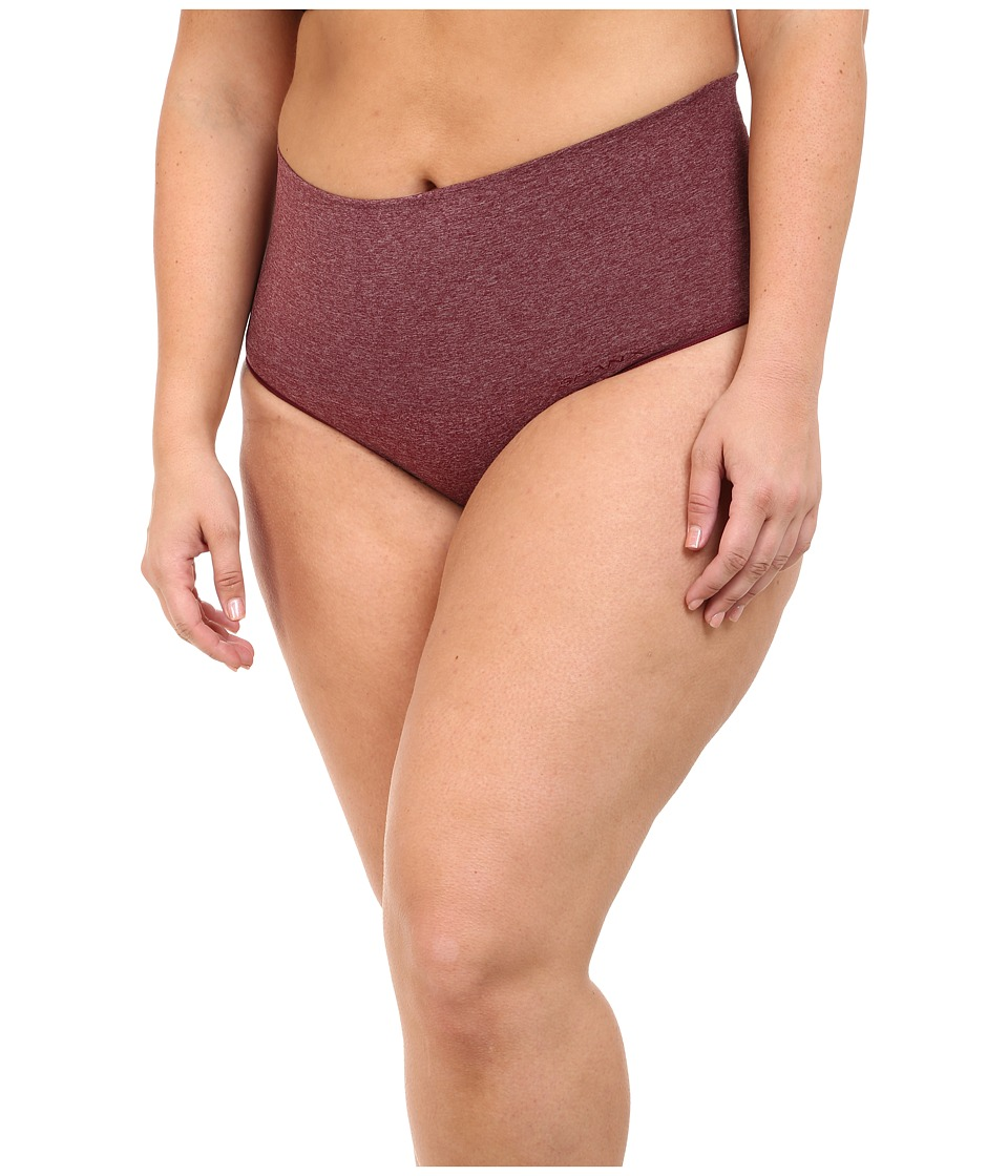 Spanx - Plus Size Everyday Shaping Brief (Heathered Rich Garnet) Women's Underwear
