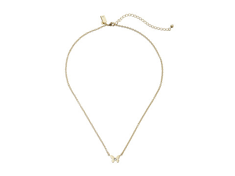Kate Spade New York - Dainty Sparklers Butterfly Pendant Necklace (Clear) Necklace