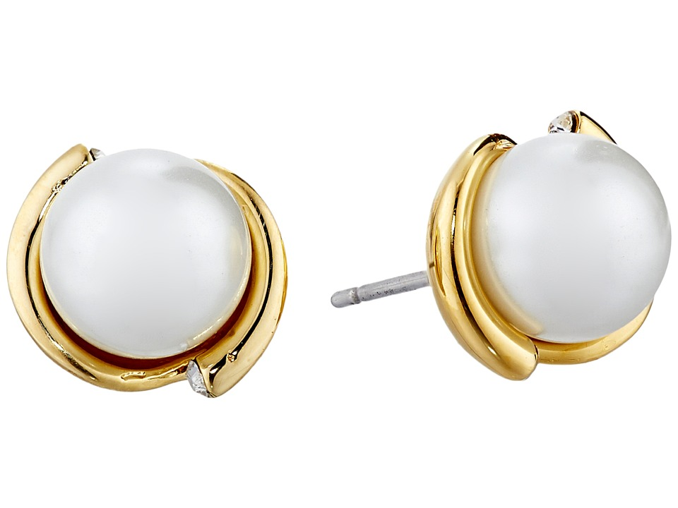 Kate Spade New York - Dainty Sparklers Pearl Studs Earrings (Cream) Earring